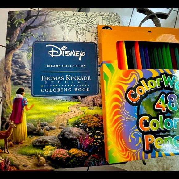 Disney Coloring Book with 48 Coloring Pencils Set